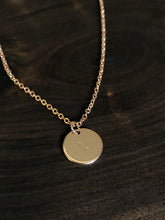 Load image into Gallery viewer, Astrological sign hand stamped necklace //