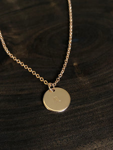 Astrological sign hand stamped necklace //