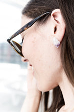 Load image into Gallery viewer, Raw crystal chunky studs //