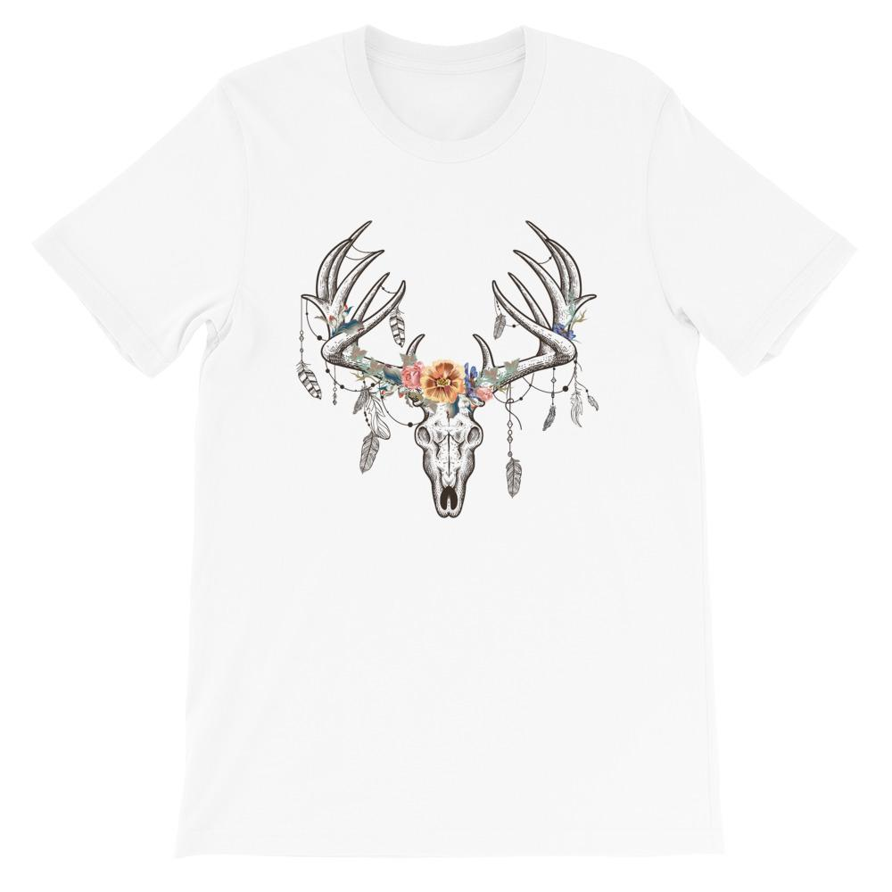 Dames shirt korte mouw *Skull* - Caps and Tees