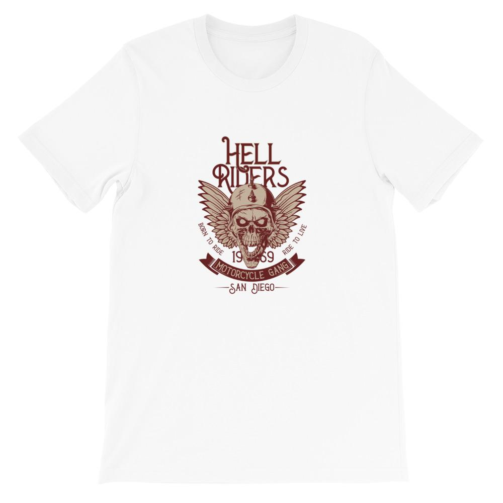 Heren shirt korte mouw *Hell riders* - Caps and Tees