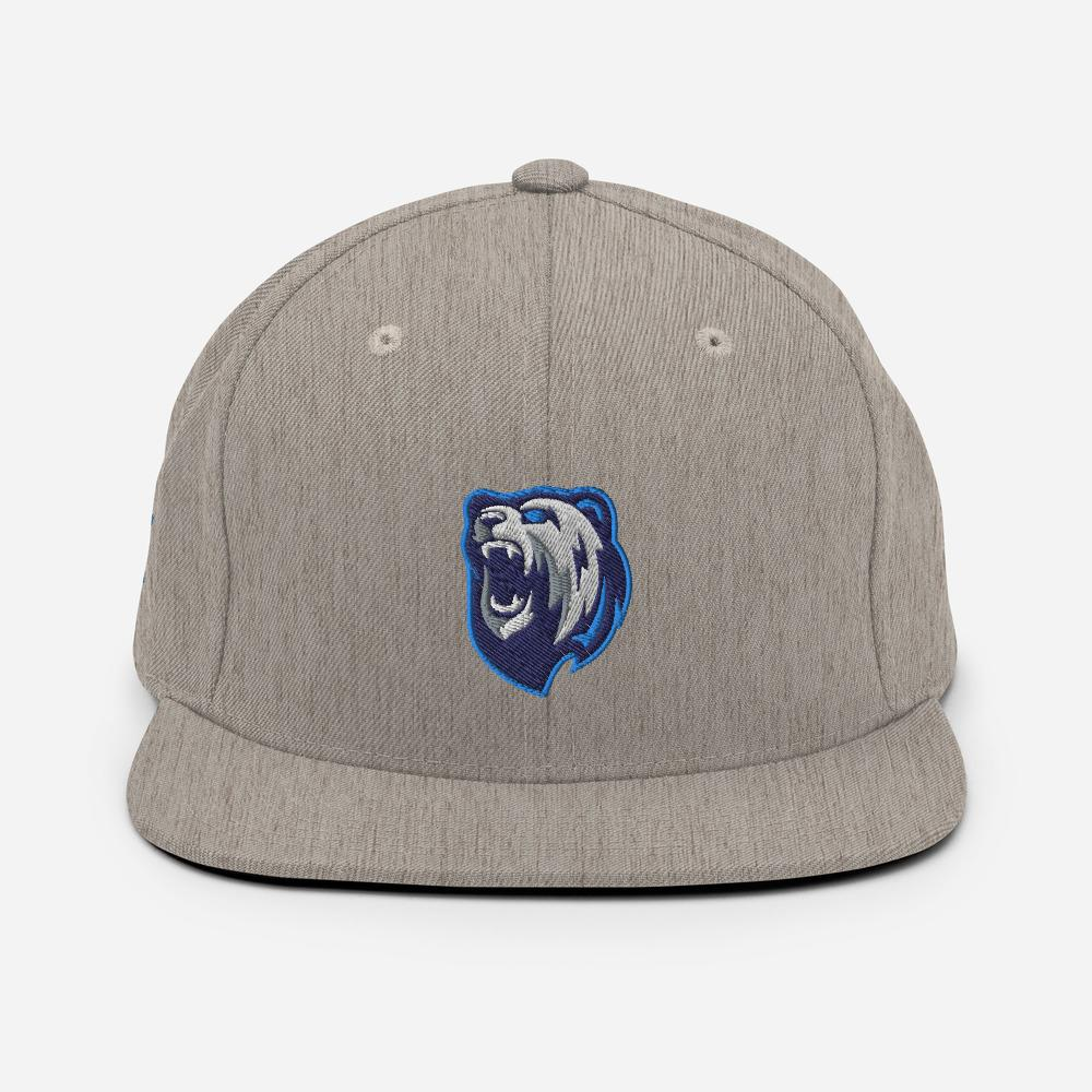 Snapback Cap - Angry Bear - Caps and Tees