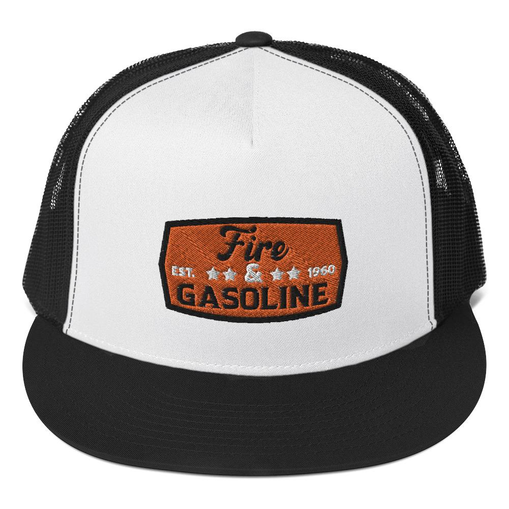 Snapback trucker cap *Fire & Gasoline* - Caps and Tees