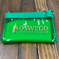 Oswego State Tower Zipper ID Holder