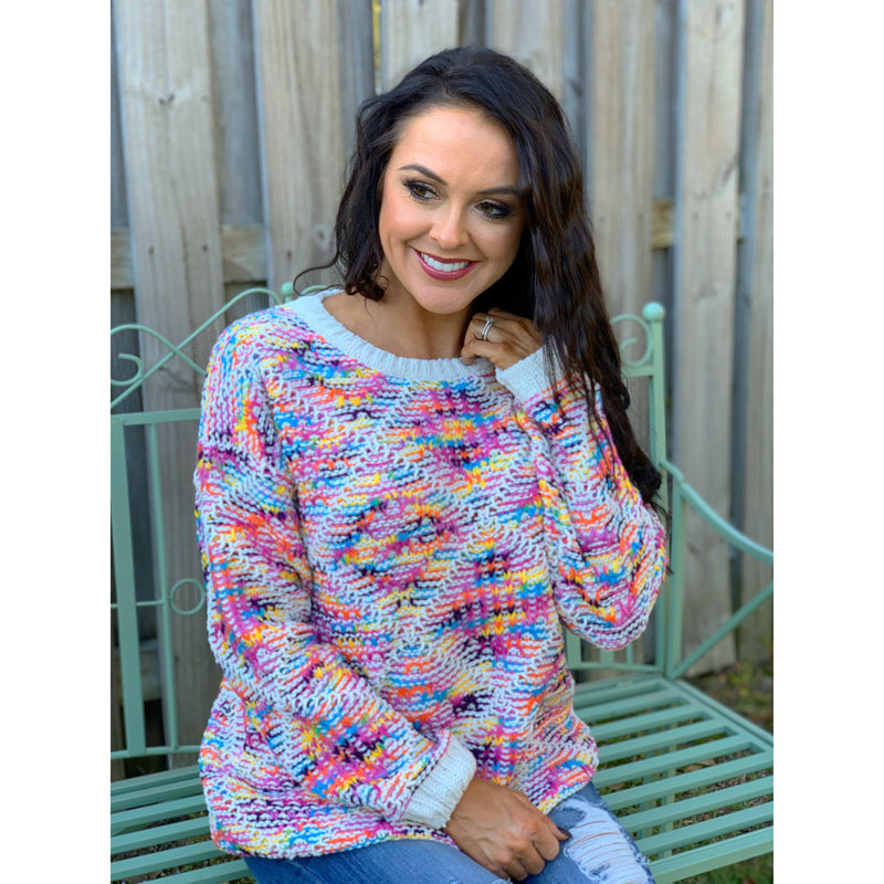 Colorful Boho Pattern Pullover