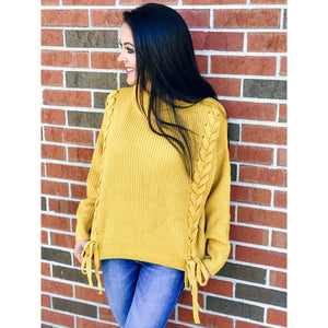 Braided Marigold Sweater