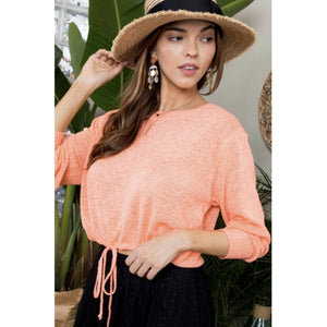 Cantaloupe Crop Sweater
