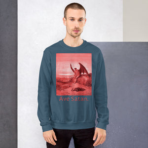 Ave Satan Red Premium Sweatshirt