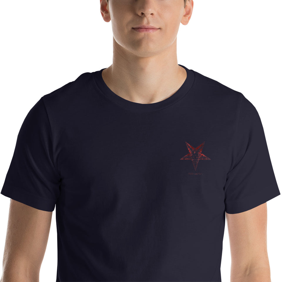 Hail Lucifer Embroidered Unisex T-Shirt