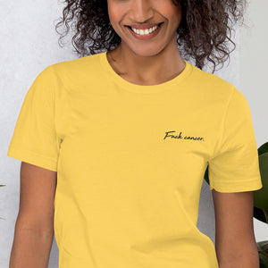 Fuck Cancer - Embroidered Short-Sleeve Unisex T-Shirt