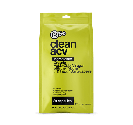 BSc CLEAN ACV 80 CAPS - Supplements Central