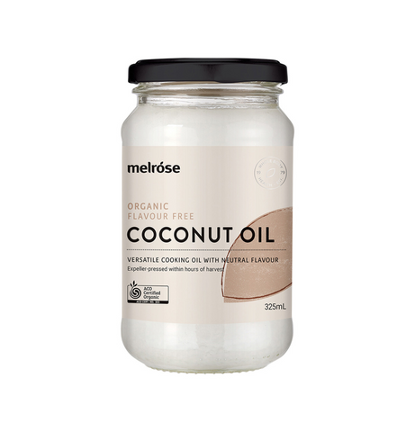 MELROSE ORGANIC FLAVOUR FREE COCONUT OIL 325ml