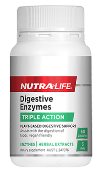NUTRA-LIFE DIGESTIVE ENZYMES 60 CAPS - Supplements Central