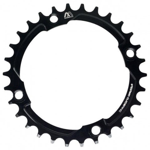 Chainring 104 mm 36T 10-12T Black