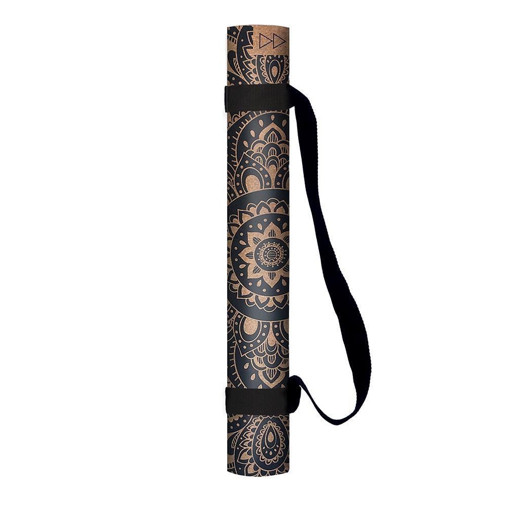 Cork Yoga Mat 1.5mm Mandala Black