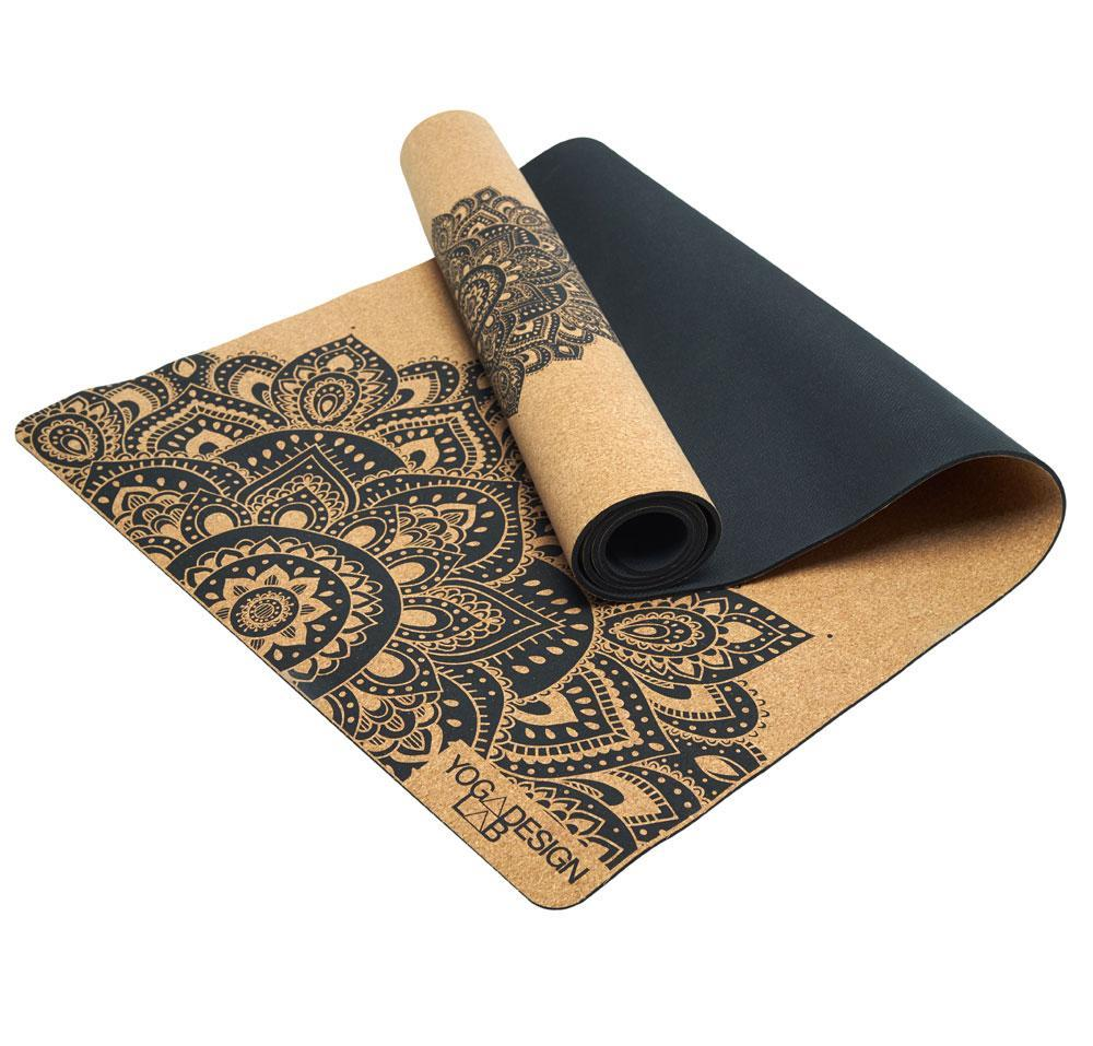 Cork Yoga Mat 3.5mm Mandala Black