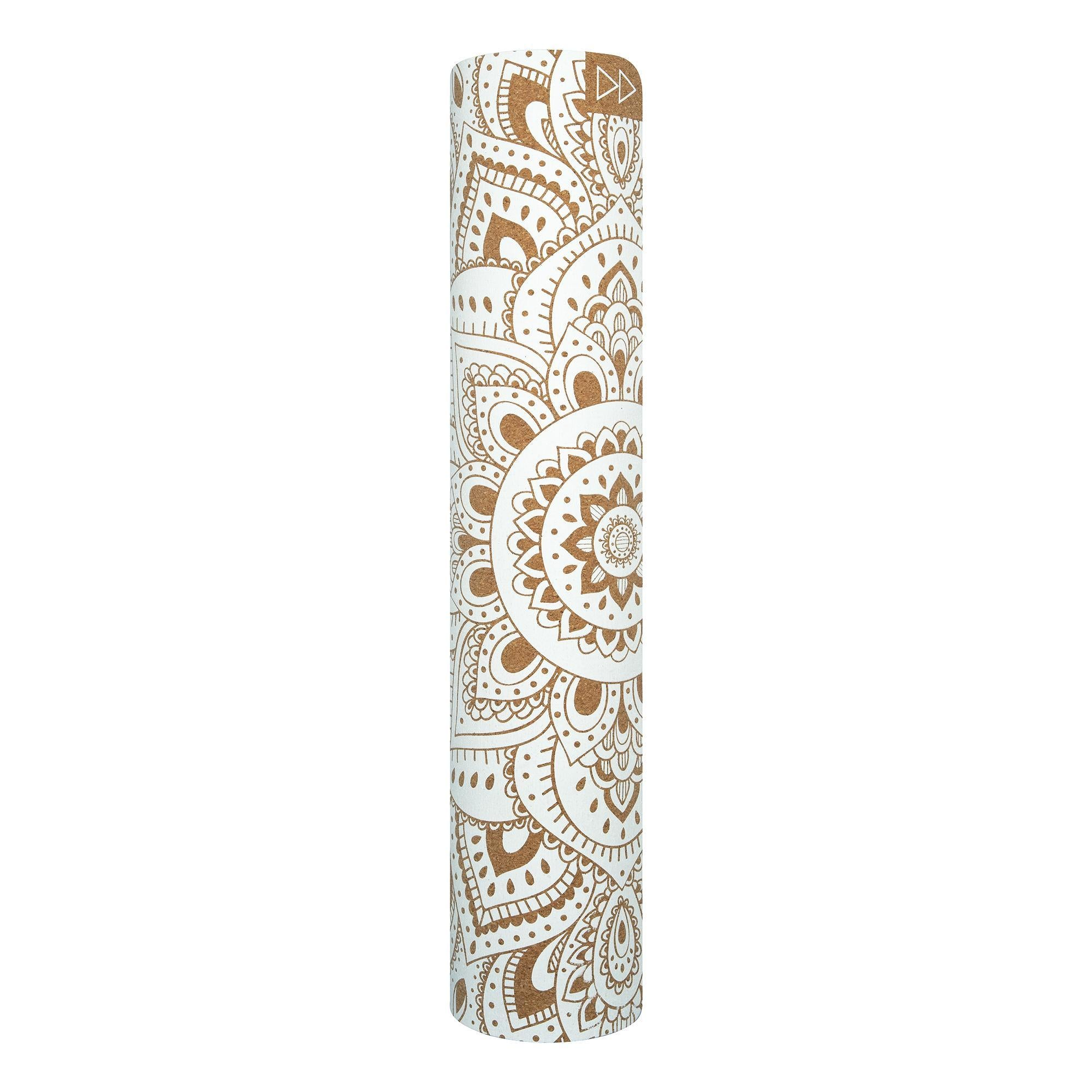 Cork Yoga Mat 5.5mm Mandala White