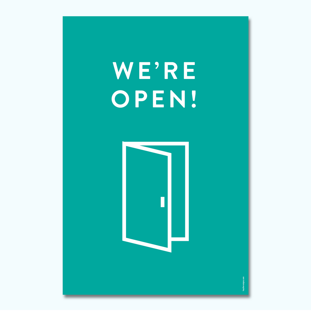 Hey There - Modern We're Open-Hey There Signs