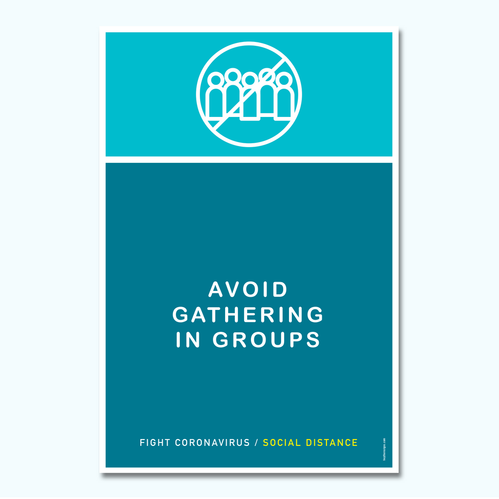 Avoid Gathering in Groups Plastic Sign-Plastic Sign-Hey There Signs