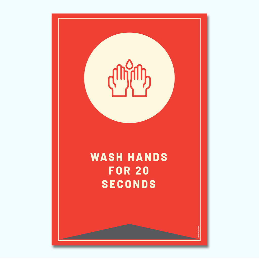 Wash Your Hands Window/Wall Decal-Window/Wall Decal-Hey There Signs