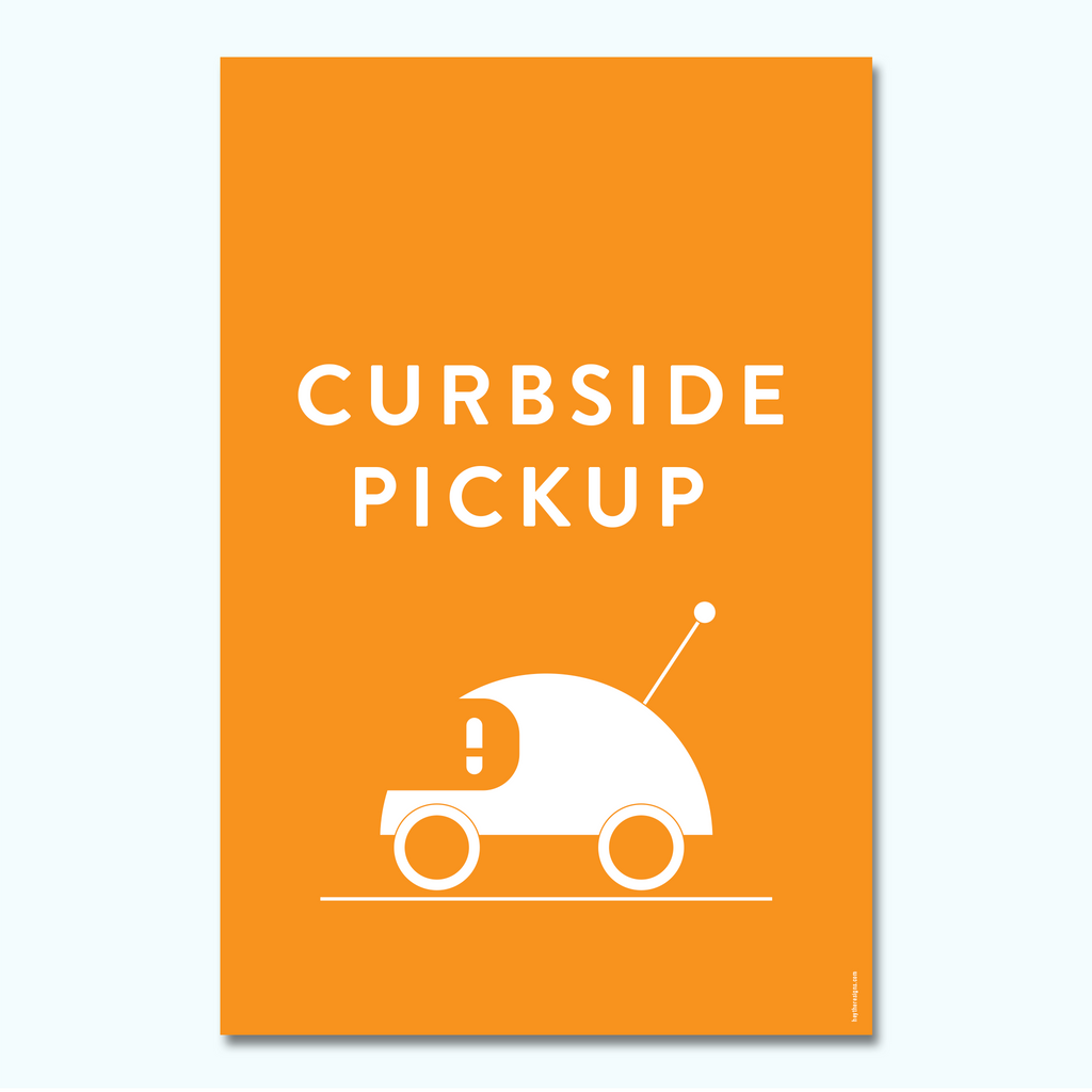 Hey There - Modern Curbside Pickup-Hey There Signs