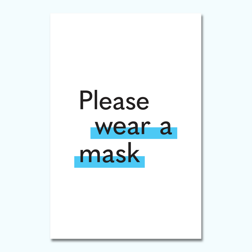 Please Wear A Mask Foam Core Sign-Foam Core Sign-Hey There Signs
