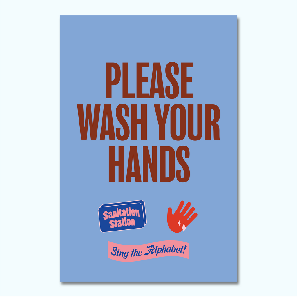 Please Wash Your Hands Window/Wall Decal-Window/Wall Decal-Hey There Signs