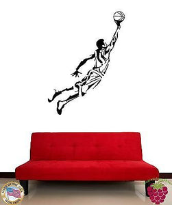Wall Sticker Vinyl Decal Basketball Sport Living Room Bedeoom z1605