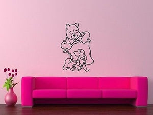 Wall Stickers Vinyl Decal Kid Cartoon Winnie The Pooh Decor Positive 1039