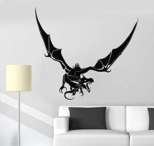 Vinyl Wall Decal Scary Dragon Fantasy Fairy Tale Fantastic Beast Stickers 2618ig