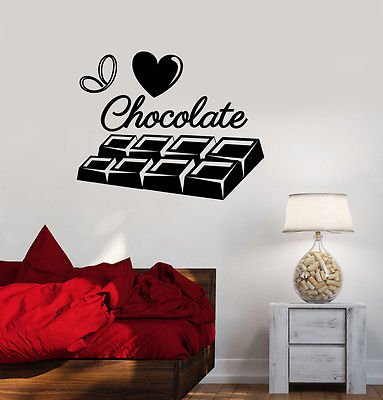 Vinyl Decal I Love Chocolate Sweet Girl Room Kitchen Wall Stickers 2131