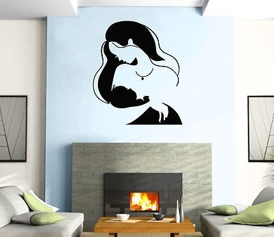 New Life Mother and Baby Positive Love Wall Art Decor Vinyl Sticker z497