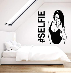 Vinyl Wall Decal Swag Style Sexy Girl Selfie Nude Hot Stickers 2537