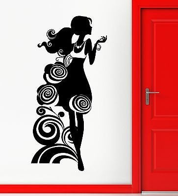 Wall Stickers Vinyl Decal Silhouette Beautiful Girl Fashion Style Shop 1812