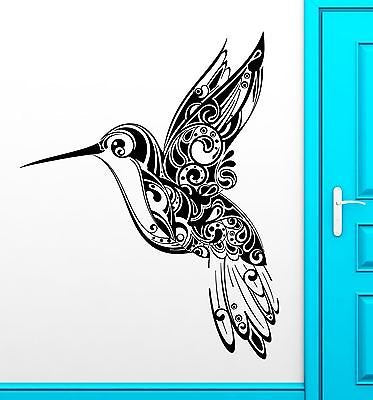 Wall Stickers Vinyl Decal Humming Bird Pattern Nature Beautiful Decor 1822