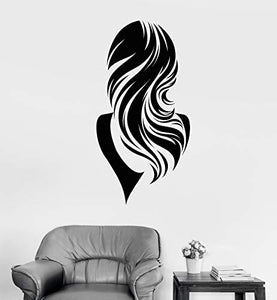 Vinyl Wall Decal Beautiful Back Woman Long Wavy Hair Girl Stickers 2083