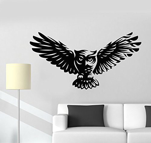 Vinyl Wall Decal Abstract Cartoon Owl Bird Feathers Wings Stickers 2300