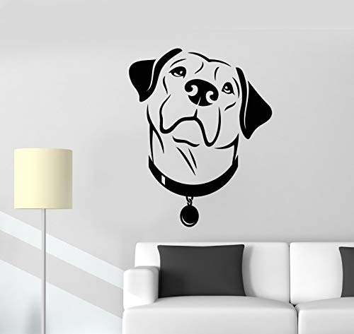 Vinyl Wall Decal Labrador Dog Head Pet Grooming Beauty Salon Stickers 2410