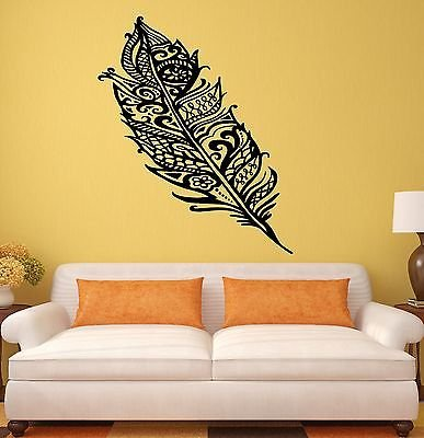 Wall Stickers Feather Bird Beautiful Room Art Mural Vinyl Decal 1993