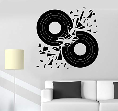 Vinyl Wall Decal Vinyl Discs Retro Style Music Lover Art Decor Stickers 1420
