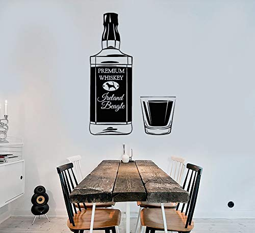 Vinyl Wall Decal Irish Whiskey Bottle Alcohol Glass Bar Stickers 1831
