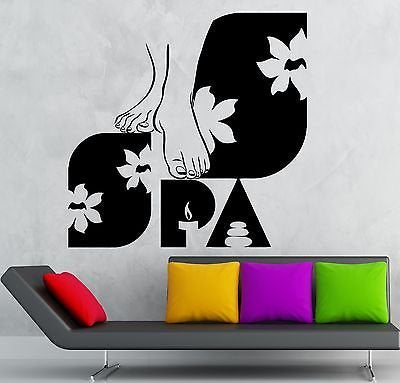 Wall Sticker Vinyl Decal Spa Salon Massage Beauty Girls Woman Relax 1851