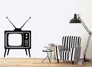 Wall Sticker Big Old TV Device with Antennas Home Vinyl Decal n510