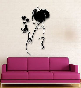 Wall Stickers Vinyl Decal Lovely Geisha Oriental Sexy Woman Girl Love 1479