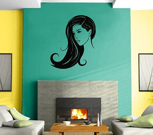 Hot Sexy Girl Woman Beauty Salon Spa Mural Wall Art Decor Vinyl Sticker z623