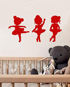Vinyl Wall Decal Little Girls Ballet School Dancer Ballerina Stickers 1803