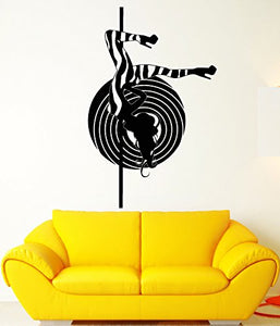 Vinyl Wall Decal Striptease Sexy Stripper Hot Naked Girl Stickers 2103