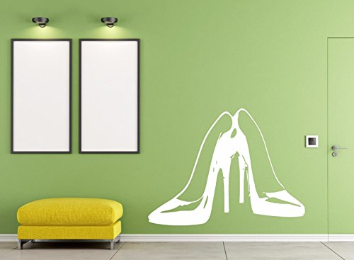 Vinyl Decal Wall Sticker Pair Female high Heel Stylish Shoes 564