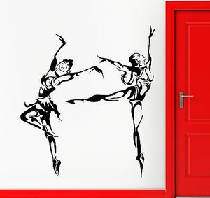 Wall Stickers Vinyl Decal Ballet Dance Sexy Girl Pattern Abstract 1815