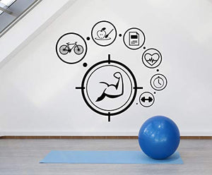 Vinyl Wall Decal Gym Healthy Lifestyle Sport Fitness Beauty Stickers 1526